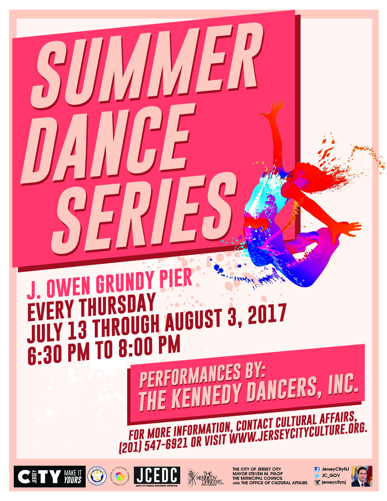 Summer dance series the office of cultural affairs for 10 exchange place 25th floor jersey city nj 07302
