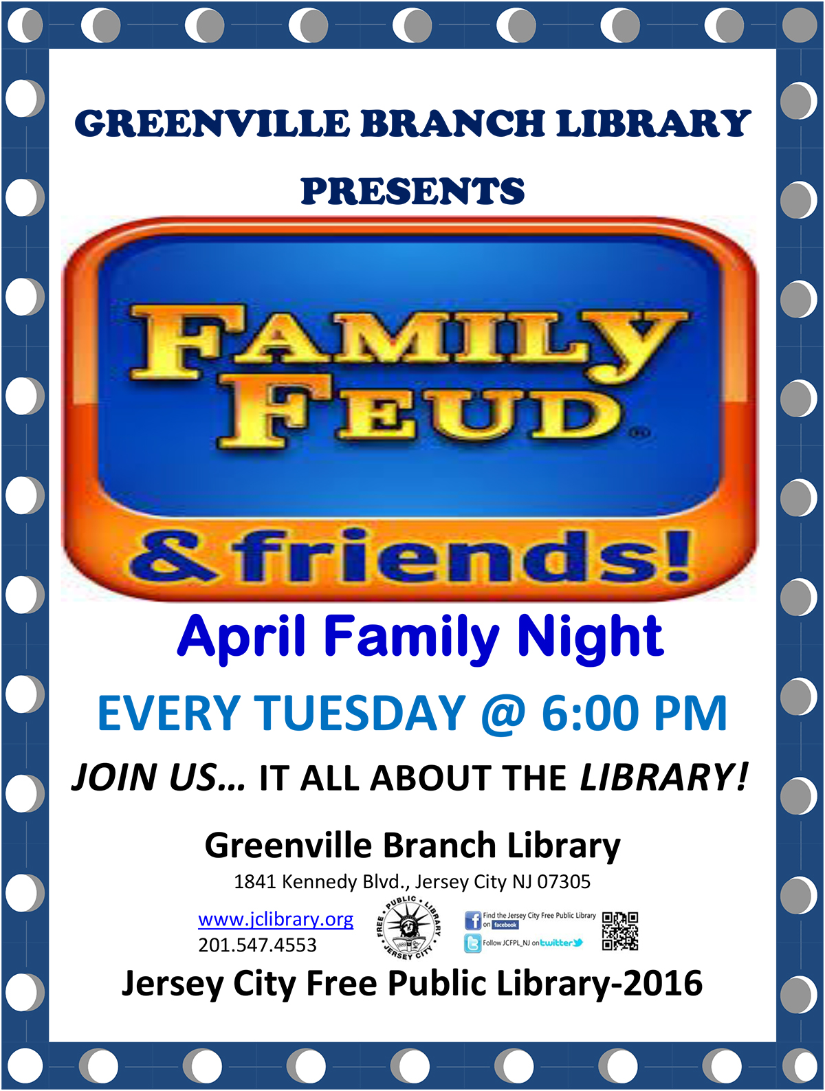 Greenville Branch Library Family Feud Friends
