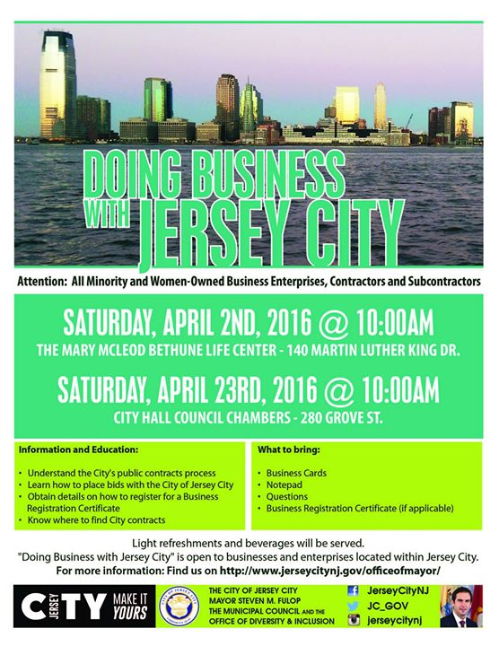 Doing business with jersey city workshop the office of cultural doing business with jersey city workshop reheart