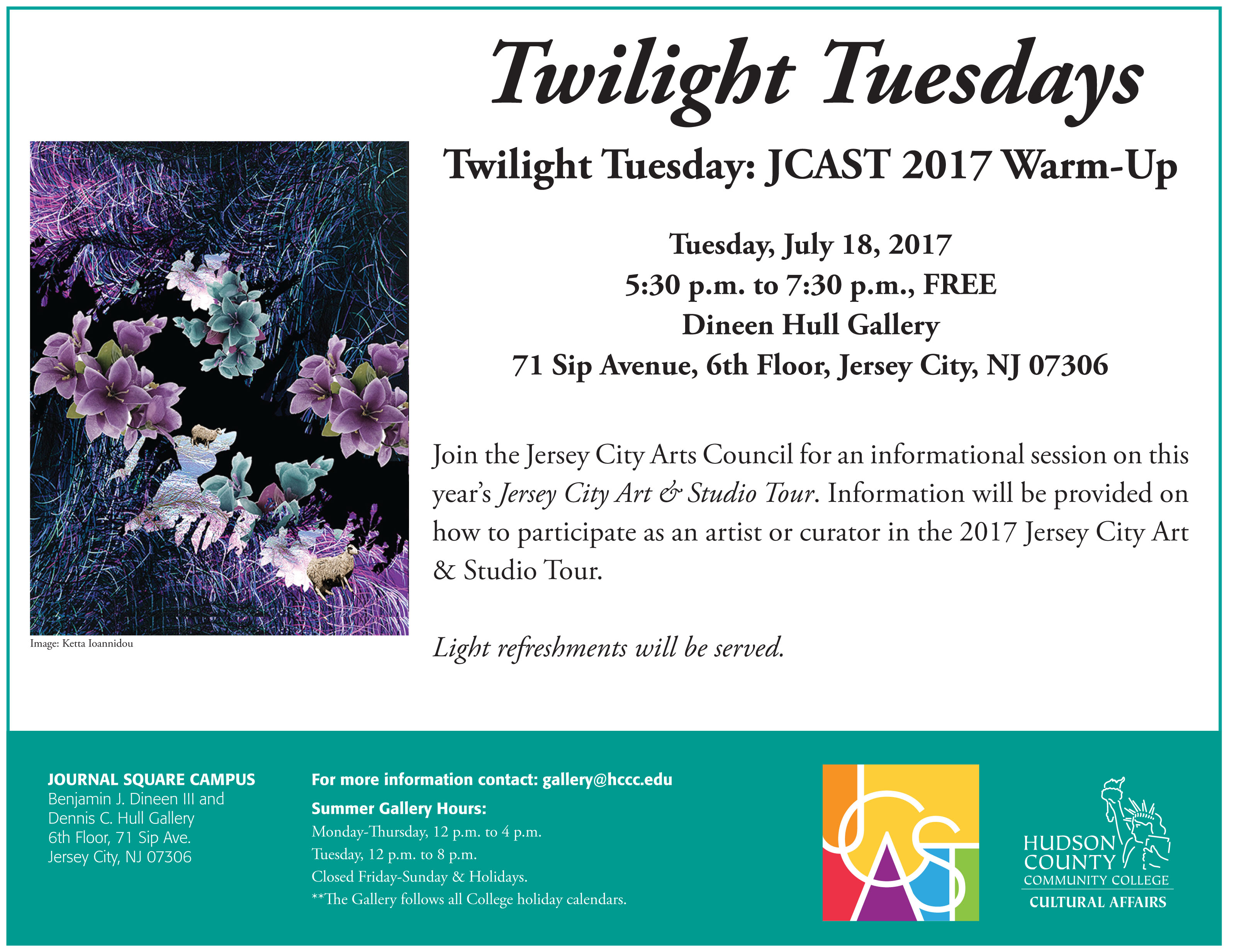 Twilight Tuesday: JCAST 2017 Warm-Up - The Office of Cultural Affairs