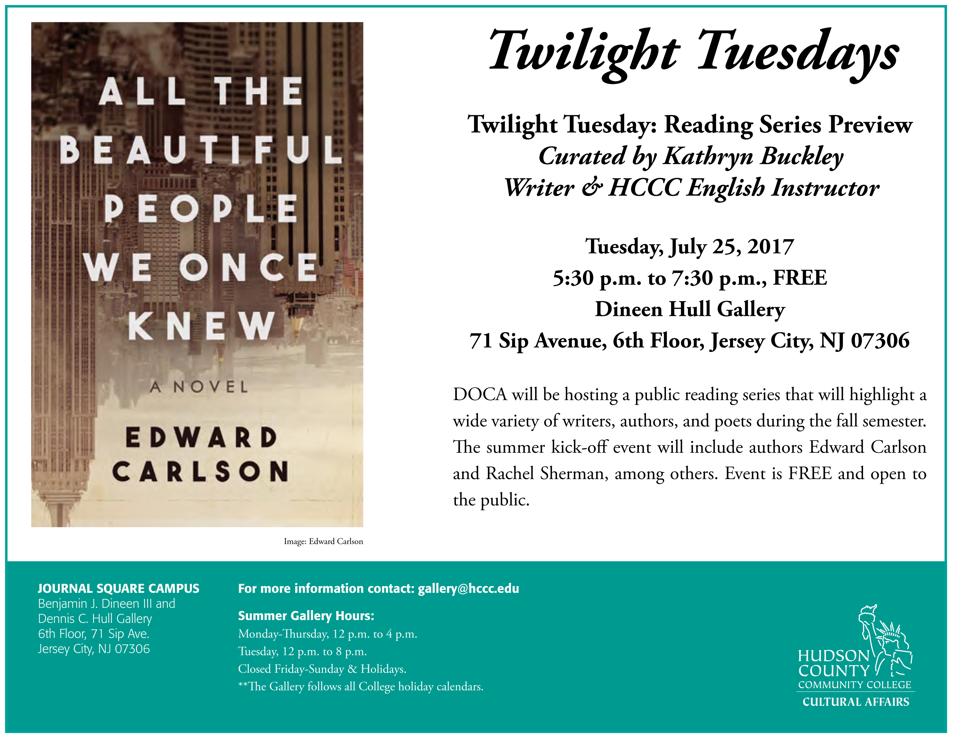 Twilight Tuesdays: Reading Series Preview - The Office of Cultural ...